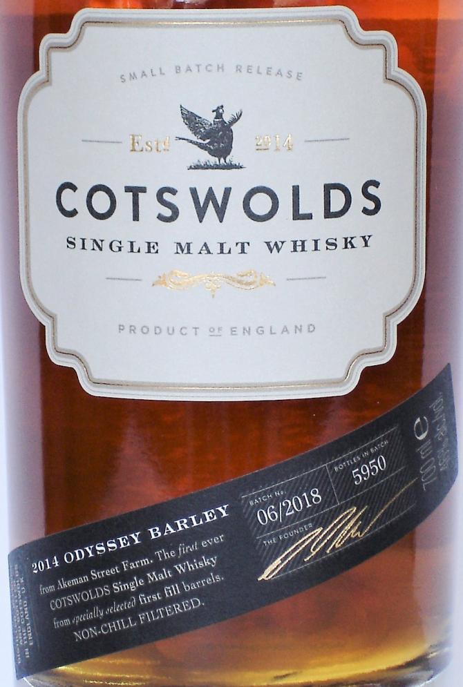 Cotswolds Distillery 2014 - Odyssey Barley