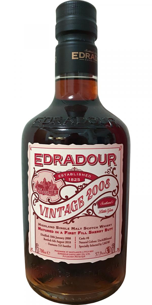 Edradour 2008 Vintage Ratings And