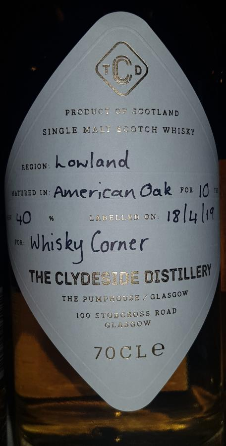 The Clydeside Distillery 10-year-old ClyDi
