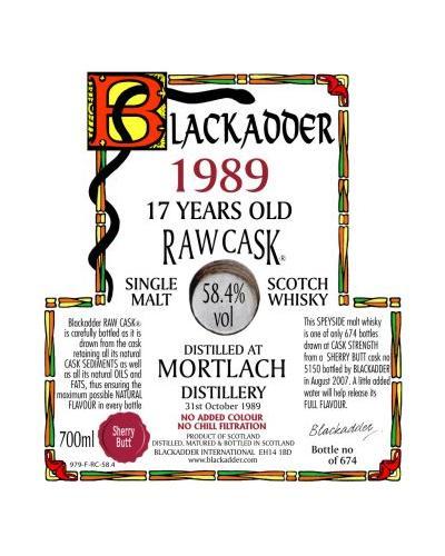 Mortlach 1989 BA