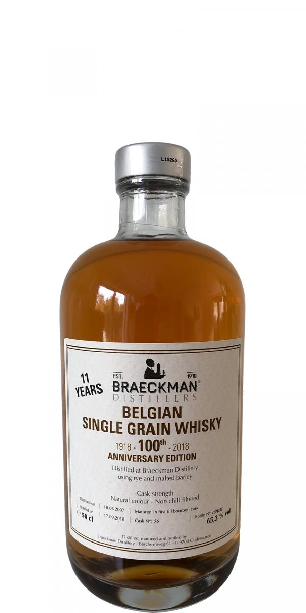 Braeckman Distillers 2007 - 100th Anniversary Edition