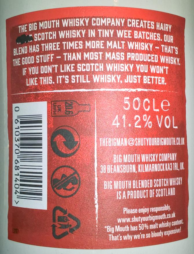 Big Mouth Blended Scotch Whisky