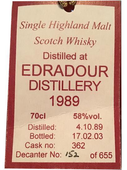 Edradour 1989