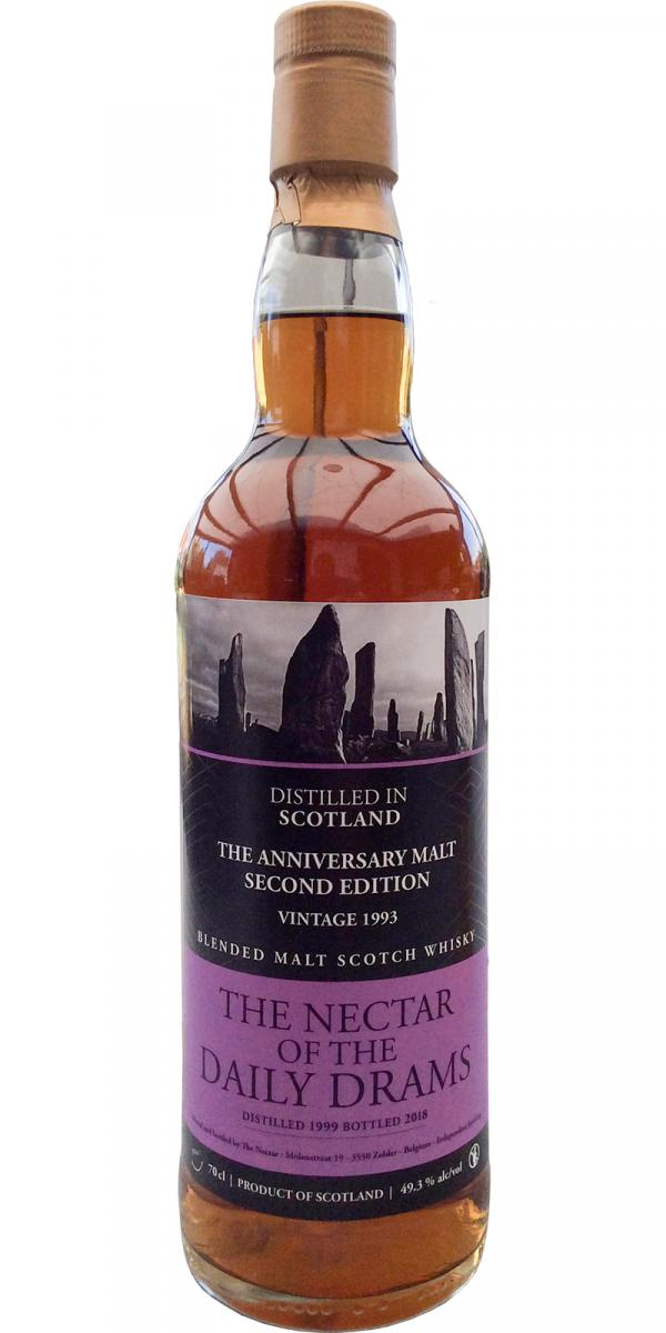 Blended Malt Scotch Whisky 1993 The Anniversary Malt - Second Edition