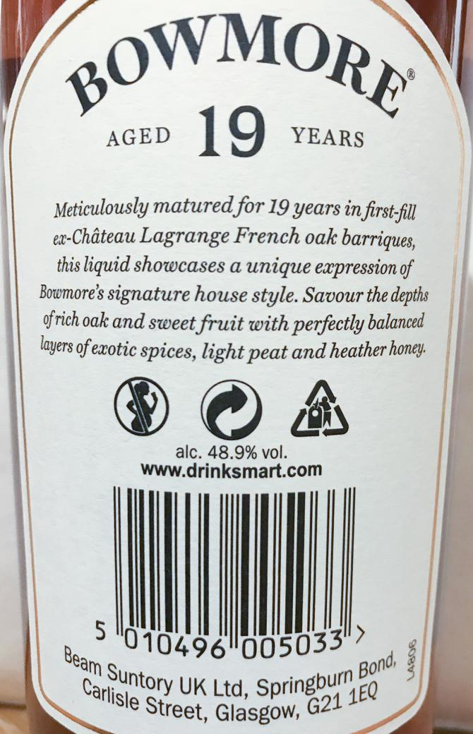 Bowmore 19-year-old