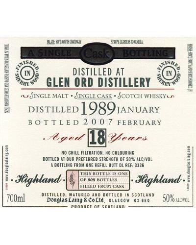 Glen Ord 1989 DL