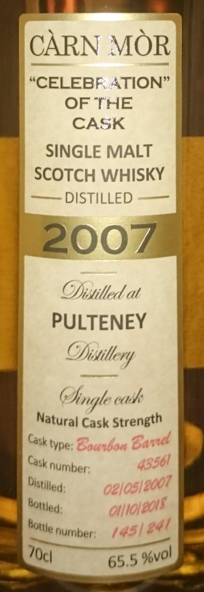 Old Pulteney 2007 MMcK