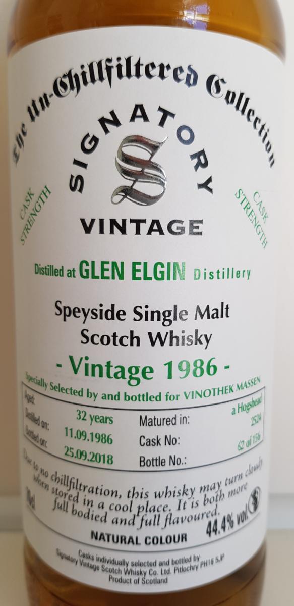 Glen Elgin 1986 SV