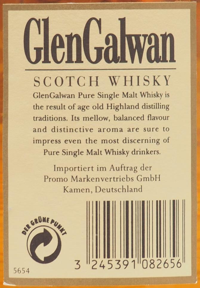 Glen Galwan Fine Single Malt