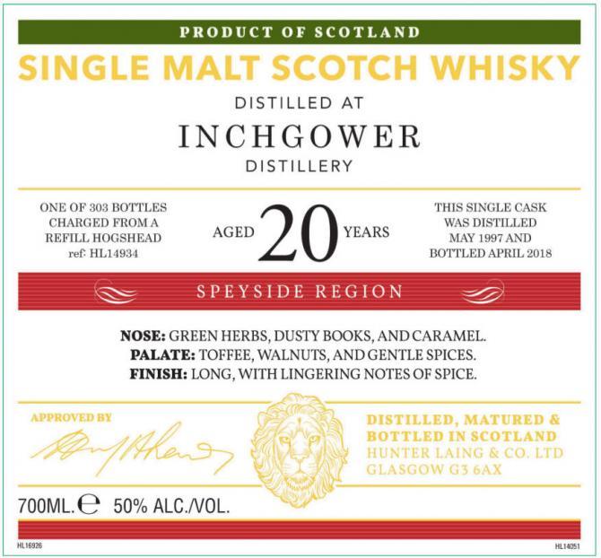 Inchgower 1997 HL