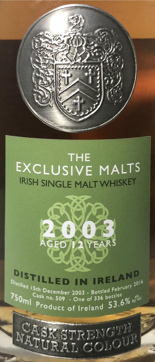 Irish Single Malt Whiskey 2003 CWC