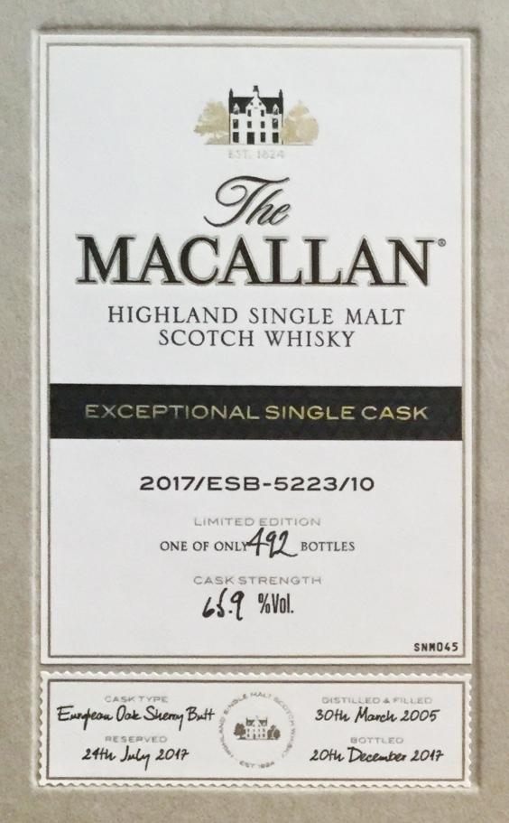 Macallan 2017/ESB-5223/10 - Ratings and reviews - Whiskybase