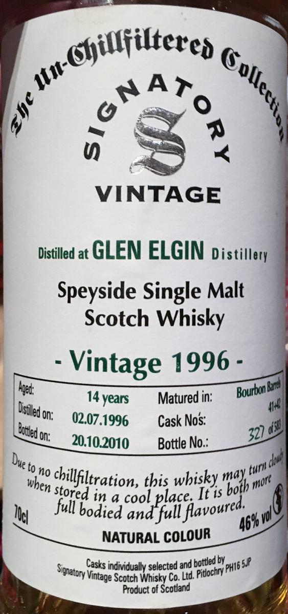 Glen Elgin 1996 SV