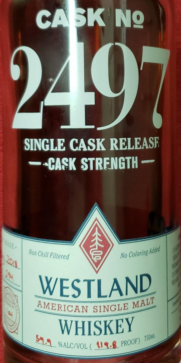 Westland Cask No. 2497