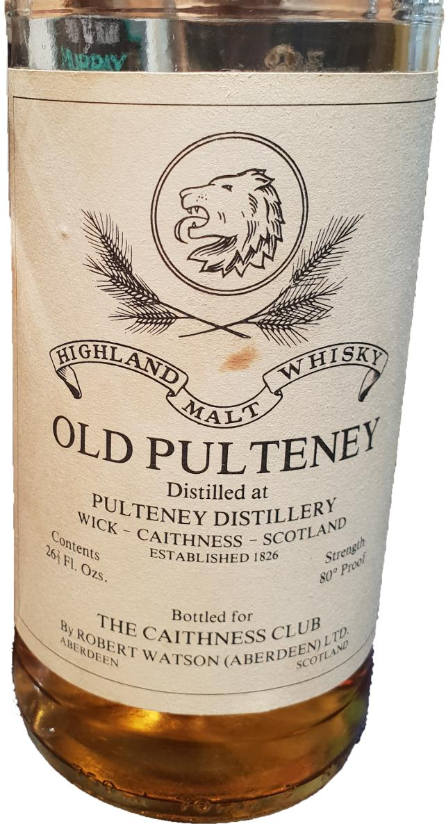 Old Pulteney Highland Malt Whisky