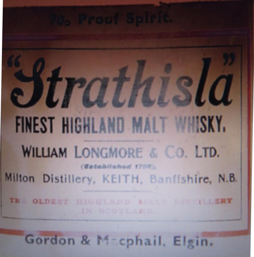Strathisla Finest Highland Malt Whisky GM