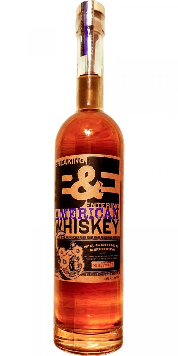 St. George Spirits B&E American Whiskey