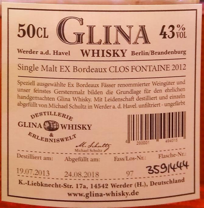 Glina Whisky 2013