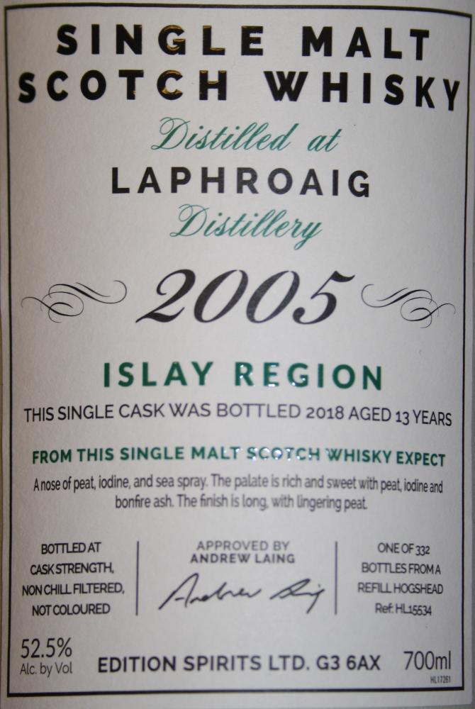 Laphroaig 2005 ED