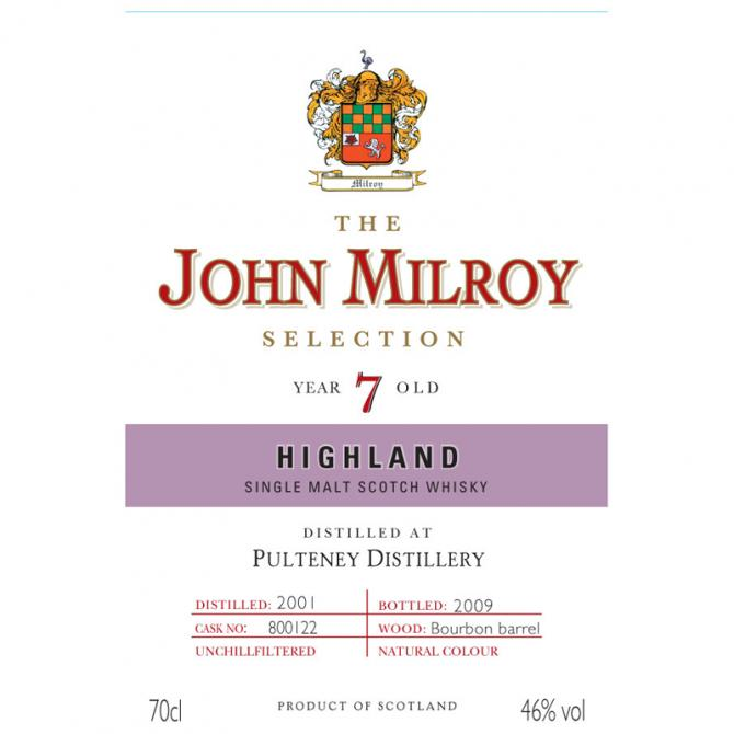 Old Pulteney 2001 JY