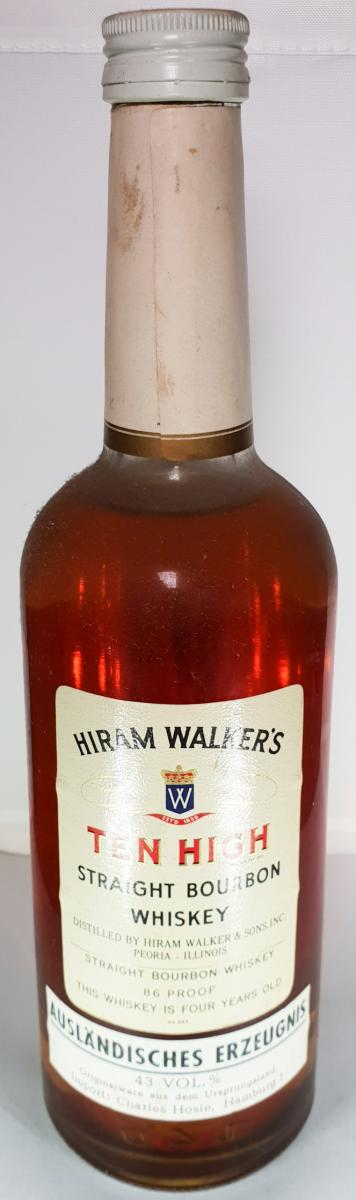 Ten High Straight Bourbon Whiskey