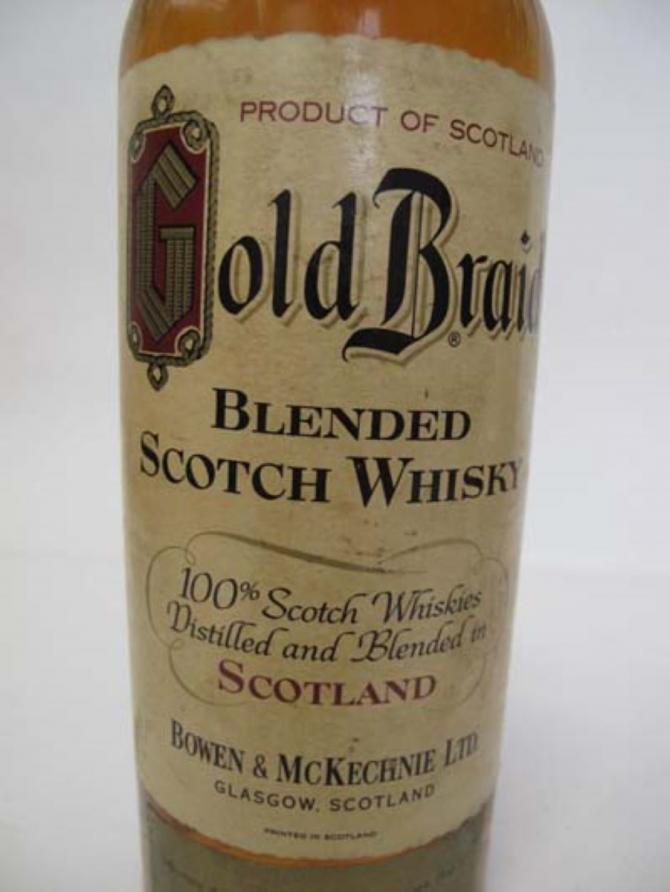 Gold Braid Blended Scotch Whisky