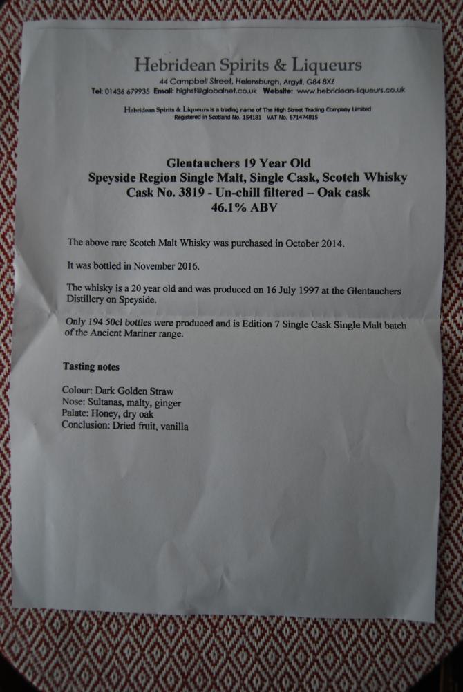 Glentauchers 1997 THLC