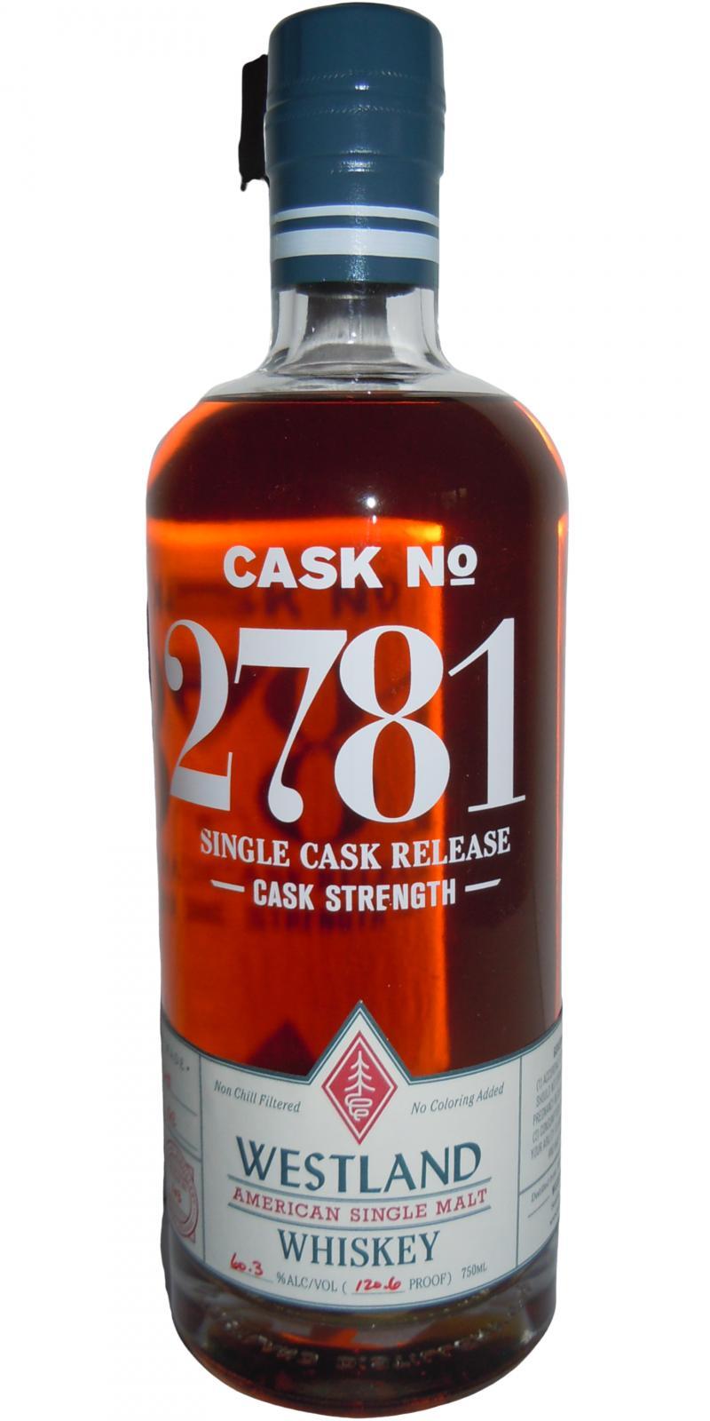 Westland Cask No. 2781