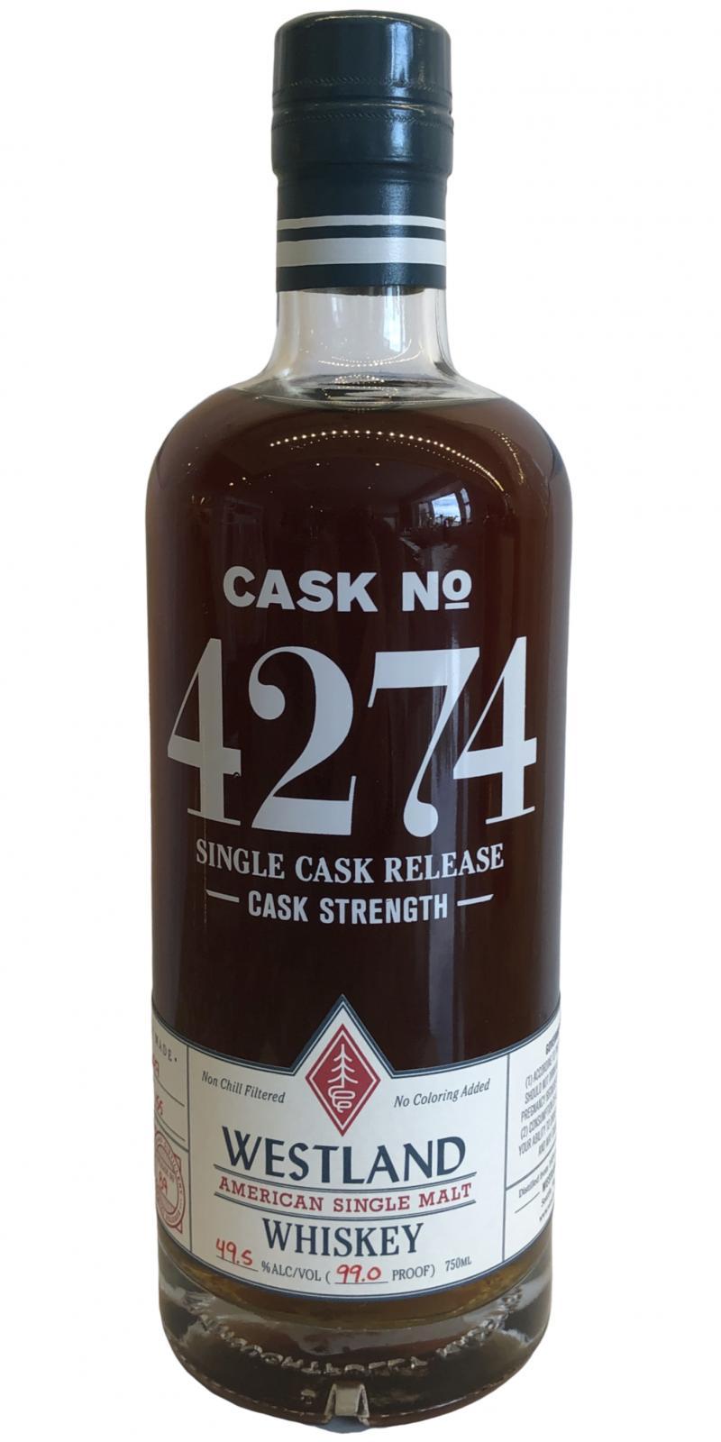 Westland Cask No. 4274