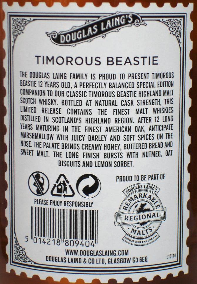 Timorous Beastie 12-year-old DL