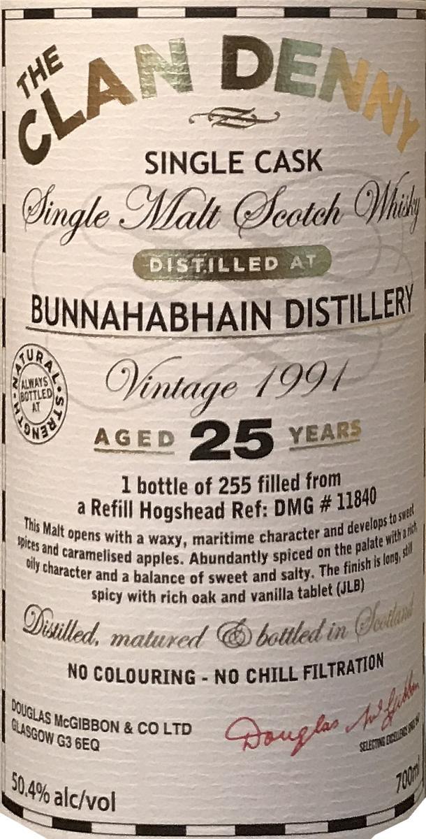 Bunnahabhain 1991 McG