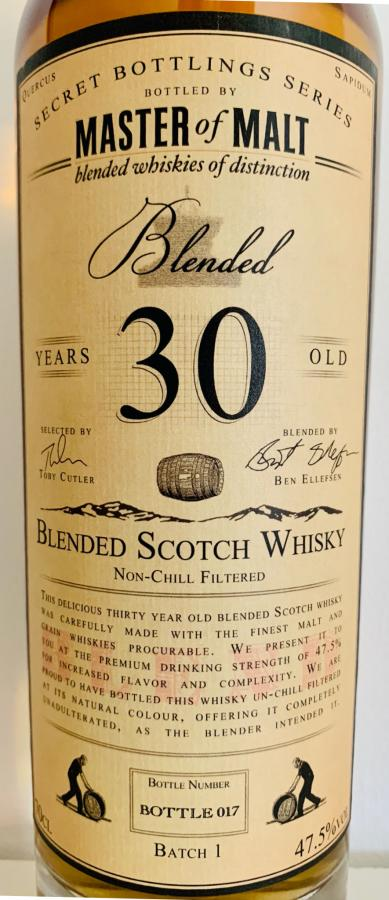 Blended Scotch Whisky 30-year-old MoM