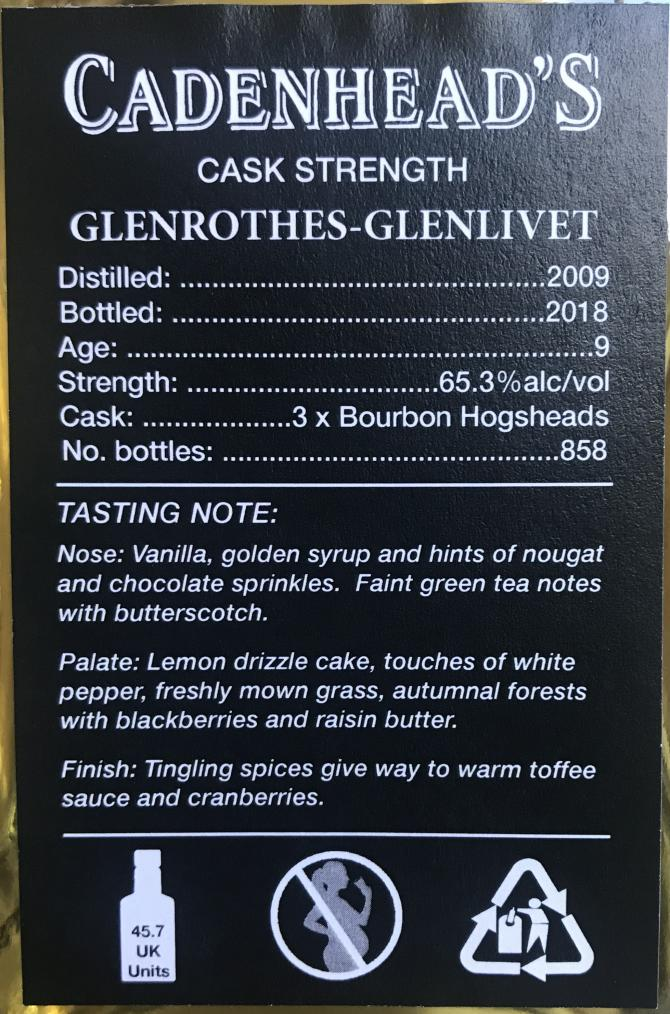 Glenrothes 2009 CA