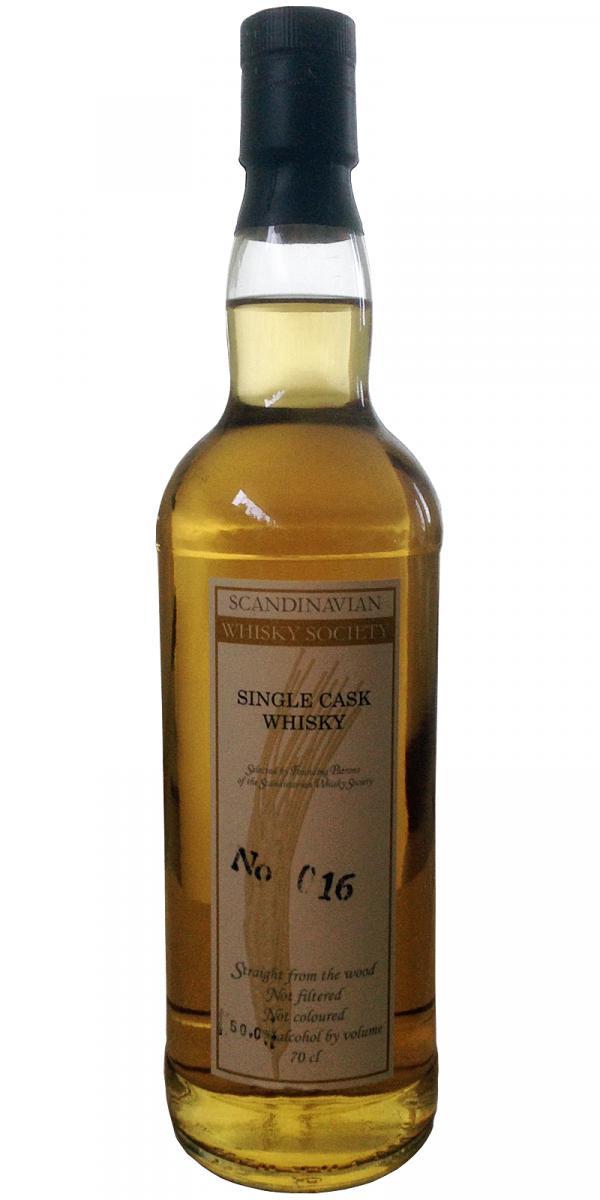 Single Cask Whisky No 016