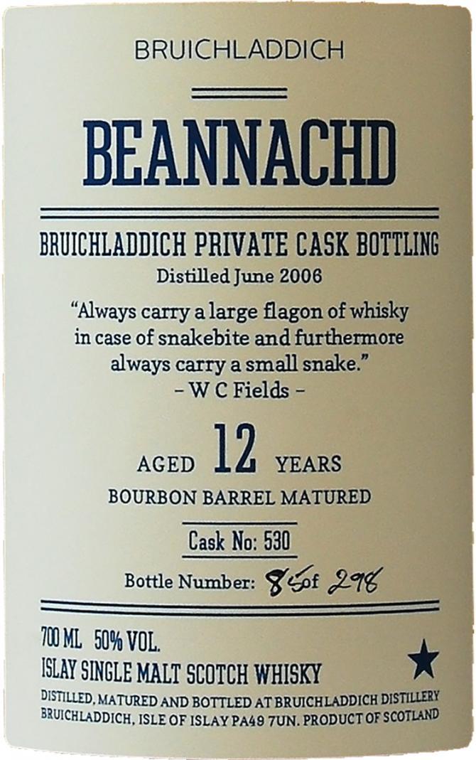 Bruichladdich 2006 - Beannachd