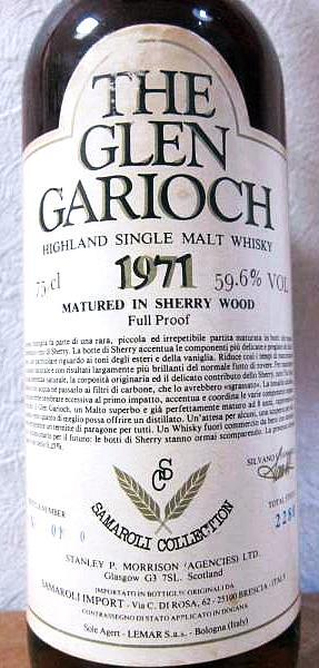 Glen Garioch 1971 Sa