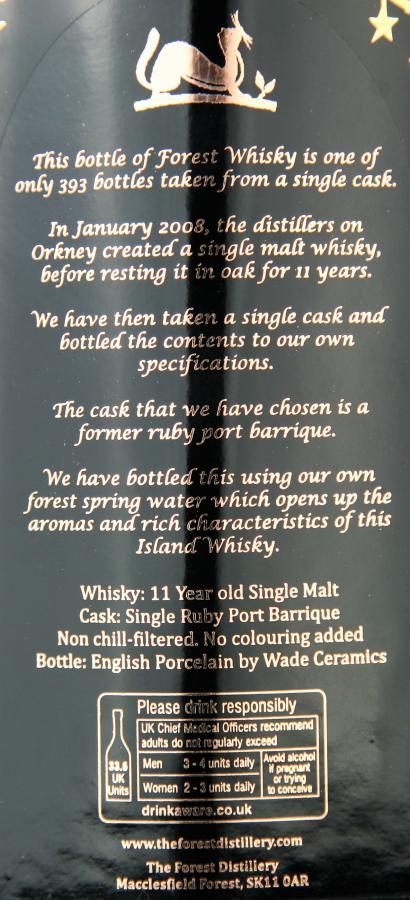 Forest Whisky 2008 - Orkney Single Malt FoDi