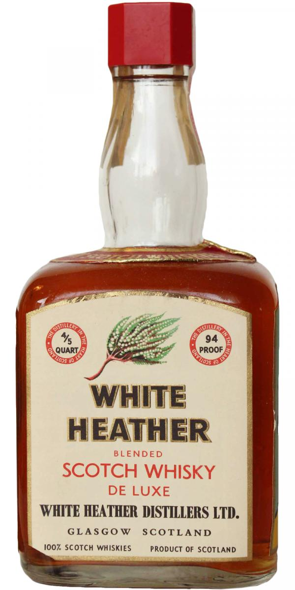 White Heather Blended Scotch Whisky De Luxe