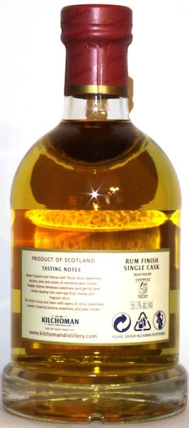 Kilchoman Rum Finish Single Cask