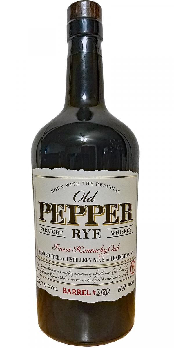 Old Pepper Straight Rye Whiskey