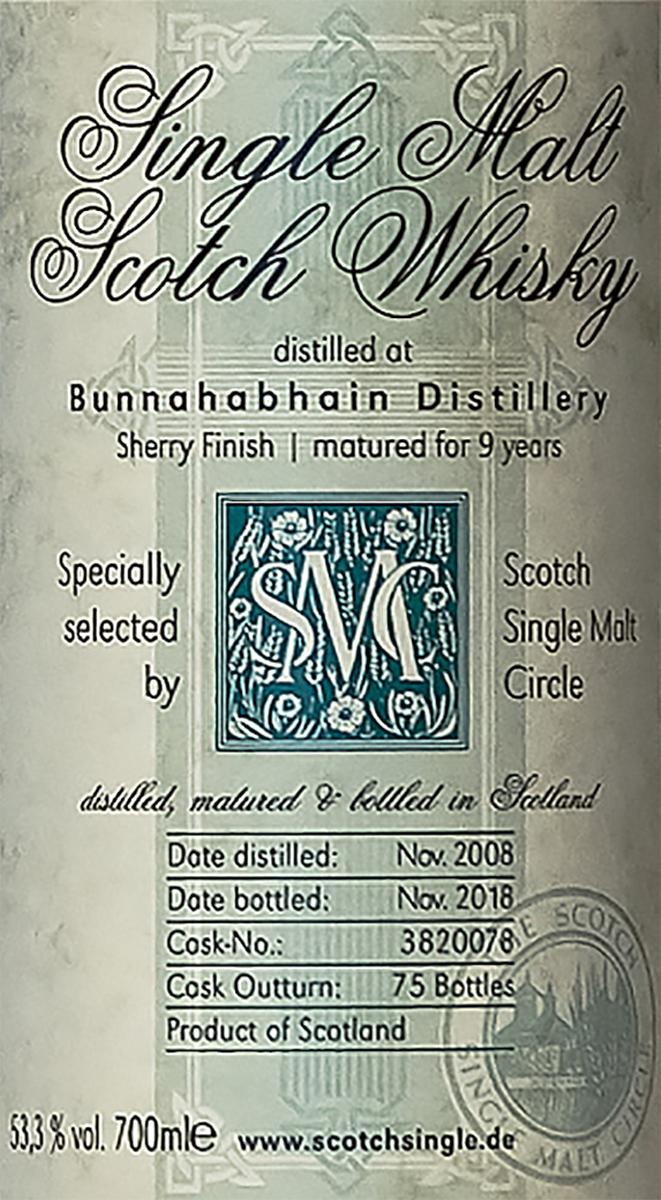 Bunnahabhain 2008 MC