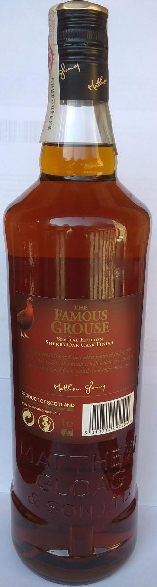 The Famous Grouse Sherry Oak Cask Finish