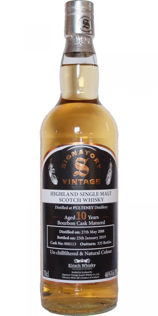 Old Pulteney 2008 SV