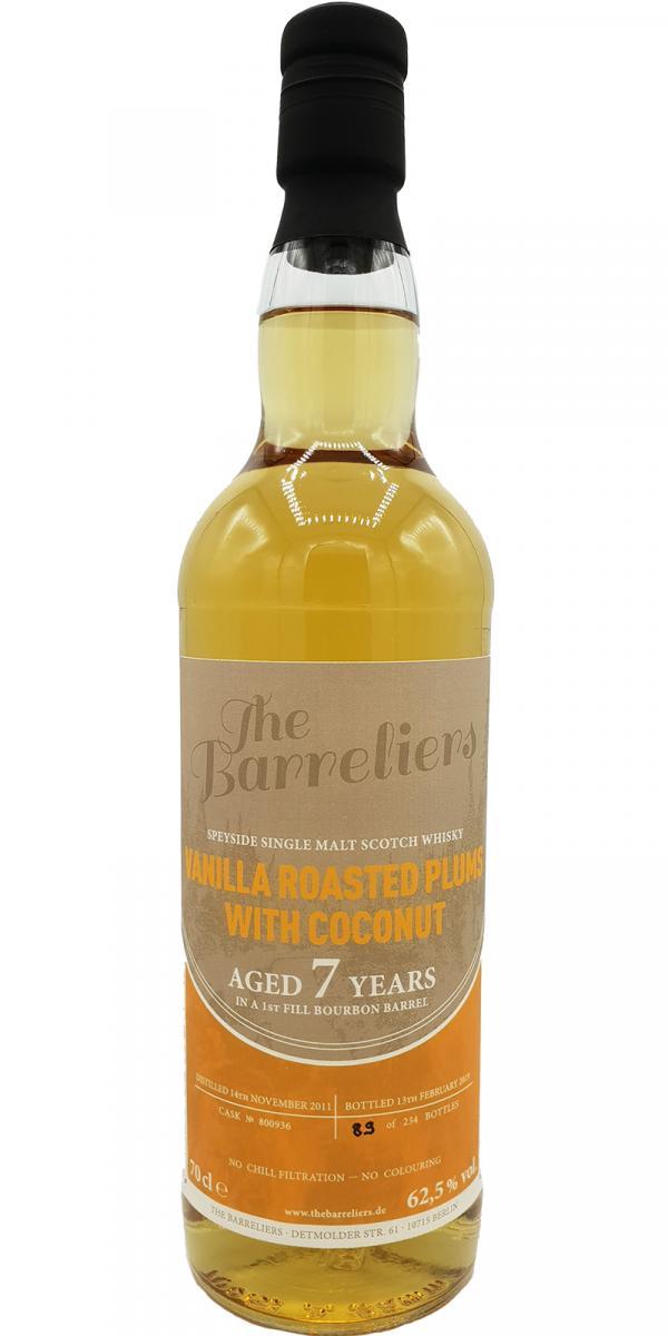 Speyside Single Malt Scotch Whisky 2011 TBa