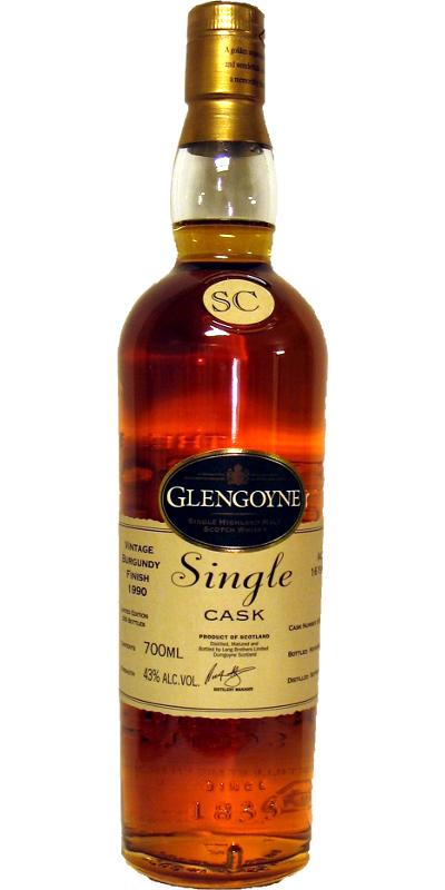 Glengoyne 1990 Burgundy Finish