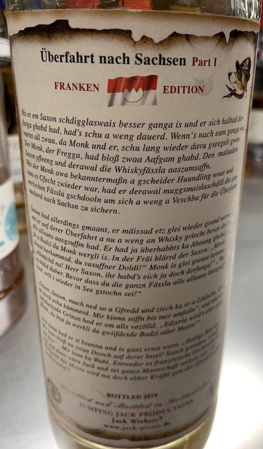 Jack's Pirate Überfahrt nach Sachsen Part I Franken-Edition