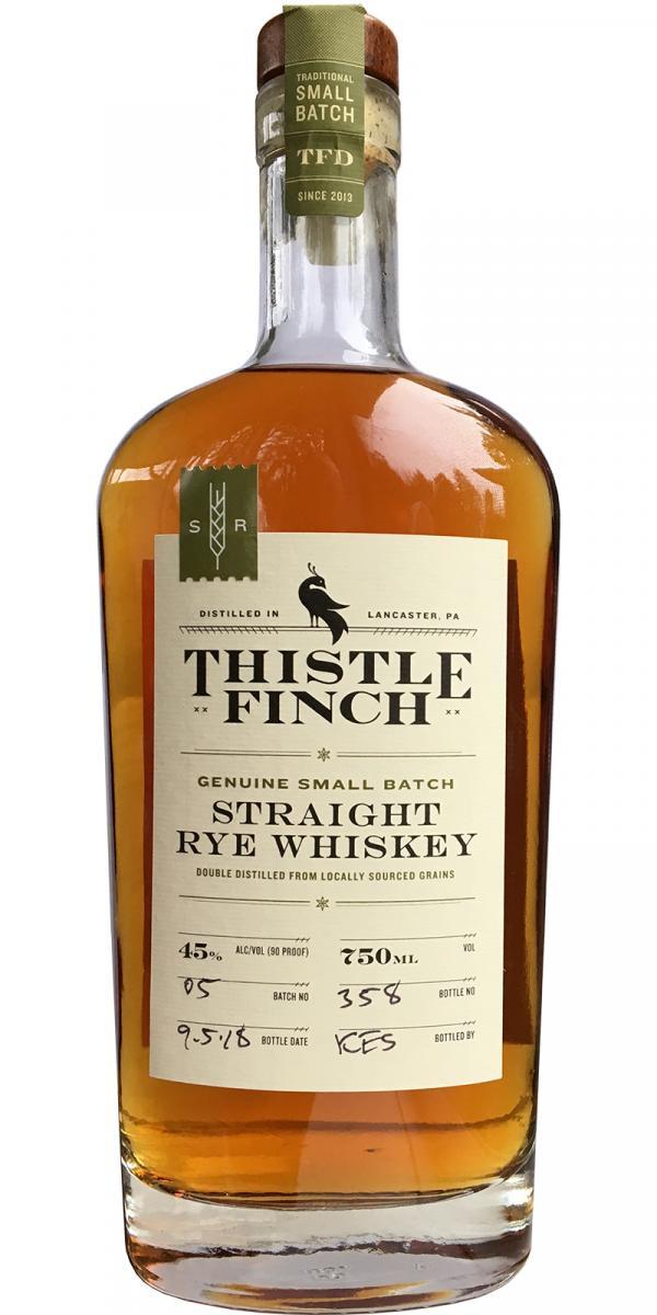 Thistle Finch Straight Rye Whiskey