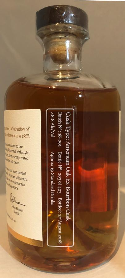 Hobart Whisky Tasmanian Single Malt