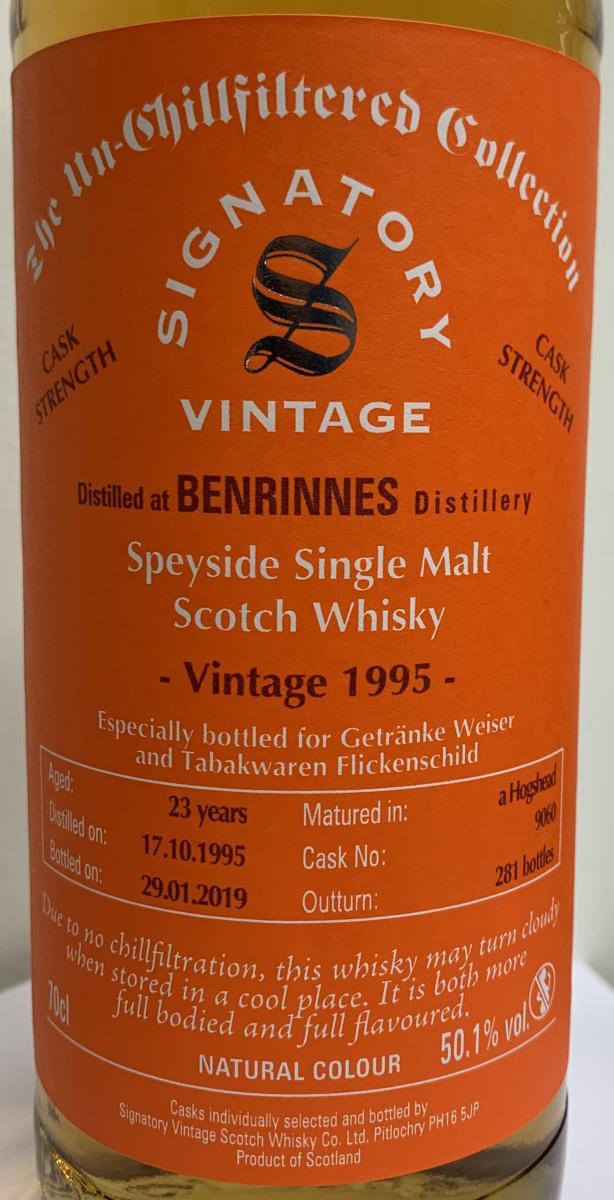 Benrinnes 1995 SV