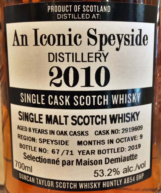 An Iconic Speyside Distillery 2010 DT
